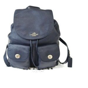 Auth Coach Leather Backpack Navy 68GB172